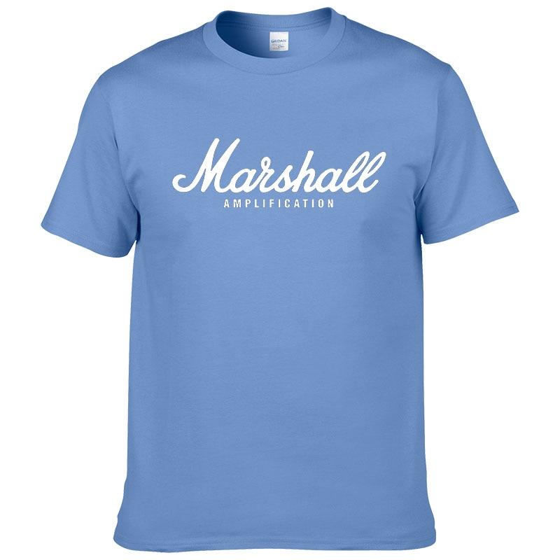 100% cotton Marshall T Shirt men short sleeves tee hip hop street wear for fans hipster 55