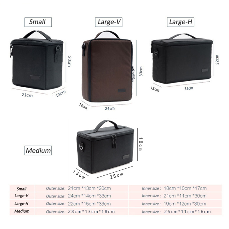 For Canon Nikon Sony Pentax DSLR SLR Lens Camera Bag Photography Protective Case Protector Nylon Insert Partition Case Photo Bag in Camera Video Bags from Consumer Electronics