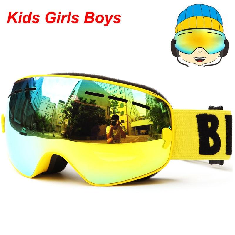 UV400 Anti-fog Gogle snowboardowe Dzieci Double Lens Ski Snow Okulary - Ubrania sportowe i akcesoria - Zdjęcie 3