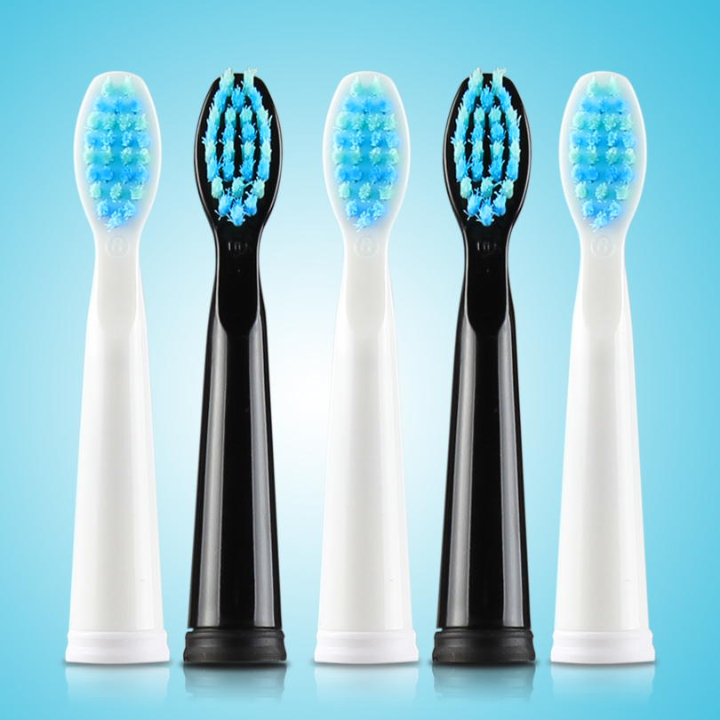 5pcs/lot SEAGO Replacement Brush Heads Sonic Wave Bristles Electric Toothbrush Head Compatible with E4/SG515/SG507/SG551 WHITE