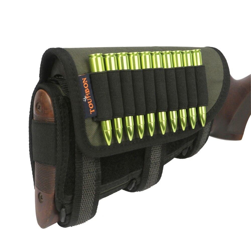 Tourbon Hunting Tactical Gun Buttstock Rifle Cheek Rest Hold 10 Rounds Cartridges Ammo Shells Carrier Gun