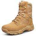 40-46 Botas de nuevo estilo Militar Hombres de Cuero Natural de Hombres Botas de Invierno Caliente Más El Tamaño de Alta Calidad de color Beige Negro