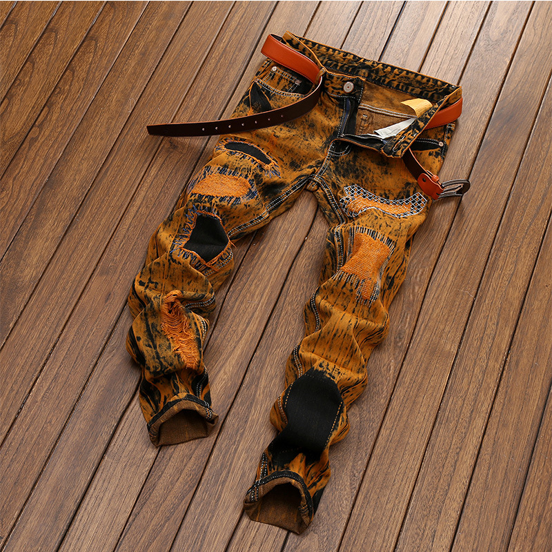 High Quality 2019 New Desing Men   Jeans   Straight Casual Denim Vintage   Jeans   Plus size 28-42