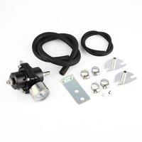 Universal 0-140 PSI Adjustable Fuel Pressure Regulator Valve for Automobile Car Refitting with Oil Gauge Gas Hose Kit