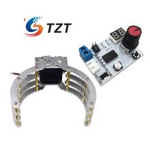 Assembled Robot Holder Gripper Claw Clamp Aluminum Arm with Servo and Servo Controller for Arduino DIY