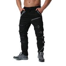 Top Quality Metal Decoration Zippers Cargo Pants Hip Hop Jogger High Street Sweatpants Drop Shipping ABZ183