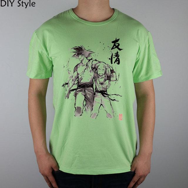 Dragon Ball Goku and Krillin Casual Men's T-shirt