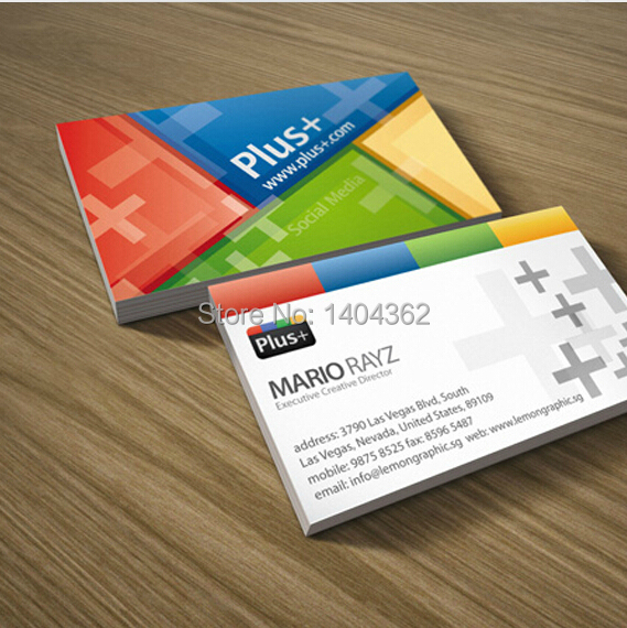 500pcs Double faced printing Paper Business cards with matte lamination Business card printing Free Shipping NO1012