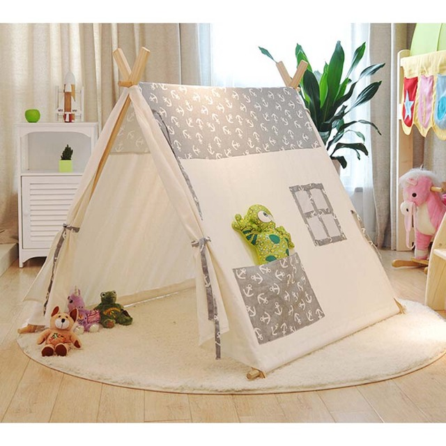 Popular 100% cotton kid teepee tent Sailors pure cotton baby children tents tents Indoor play & Popular 100% cotton kid teepee tent Sailors pure cotton baby ...