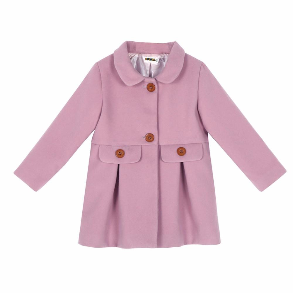 New Winter Girls Coats Toddler Baby Girls Warm Wool Jacket Princess Snowsuit Tops Outwear Hot Sale