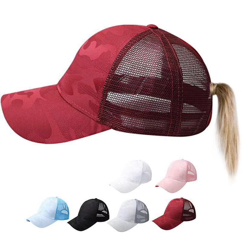Bekleidung Zubehör Kopfbedeckungen Für Damen Neue Mode Kreative Hohl-out Atmungsaktive Mesh Cap Damen Mehrfarbige Camouflage Baseball Kappe Im Freien Sport Lässig Hut Strukturelle Behinderungen