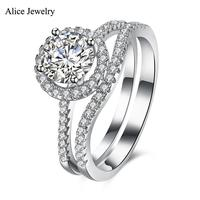SVR134 2016 New 100 Real Pure 925 Sterling Silver Ring AAA Zircon Party Engagement Wedding Rings