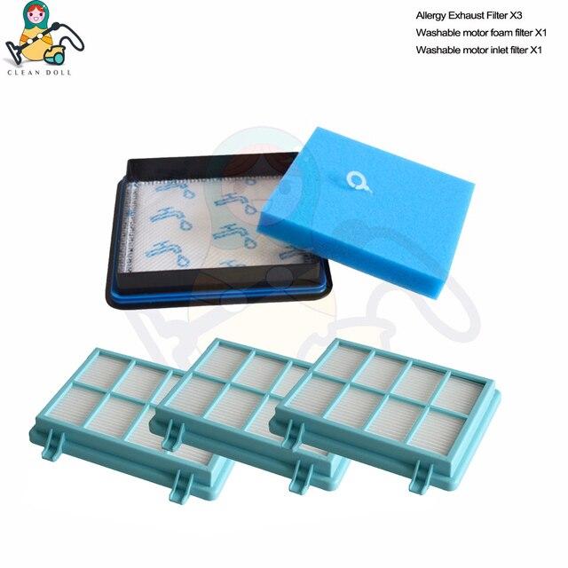 Filtros hepa para aspirador de pó para philips filtro fc8010/01 fc9328 fc9331 fc9334 fc9349 FC9530 FC9353 fc9515 fc9516 peças sobresselentes