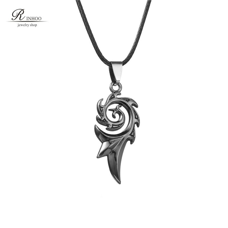 Rinhoo 2018 Men's Punk Dragon Flame Titanium Stainless Steel Cool Leather Chain Pendant Necklace Men's Necklace Wholesale