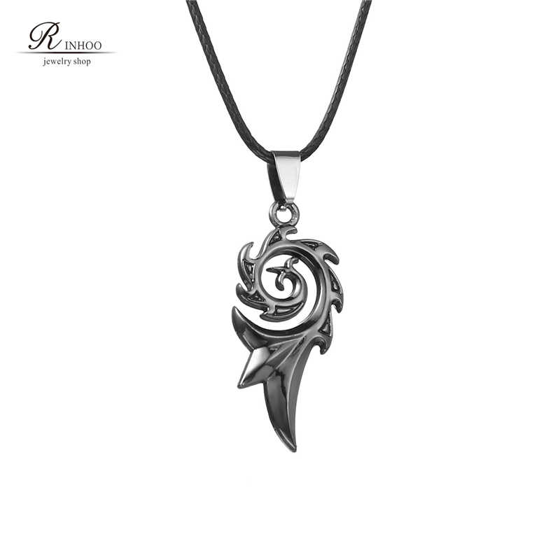 Rinhoo 2018 Men's Punk Dragon Flame Titanium Stainless Steel Cool leather chain Pendant Necklace Men's necklace wholesale