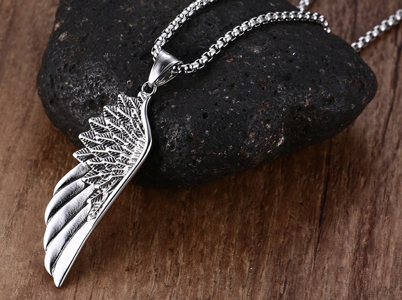 Mens Necklaces Stainless steel choker silver 12