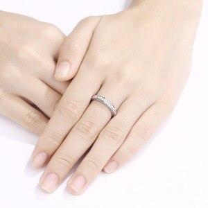Image 3 - Newshe 925 เงินสเตอร์ลิงตรงSTACKABLEงานแต่งงานแหวนหมั้นสำหรับผู้หญิงเครื่องประดับอินเทรนด์ขนาด 5 12