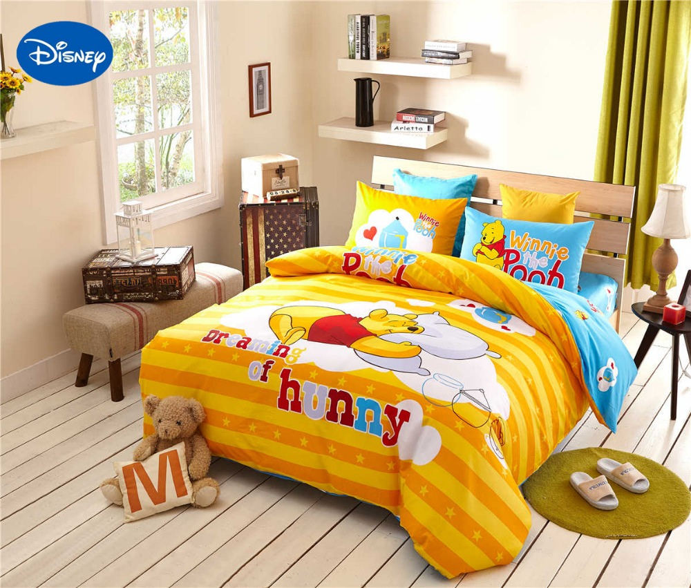 Winnie the pooh toddler bedding - Winnie The Pooh Bedding Children S Comforters Cotton Bed Sheet Duvet Cover Sets Single Twin Queen Disney
