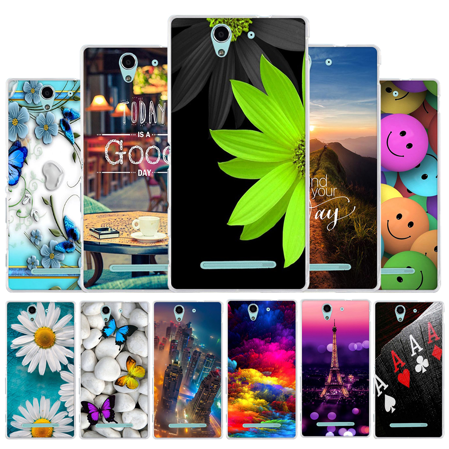 Galleria fotografica TPU Soft Cover Case For Flip <font><b>Sony</b></font> Xperia C3 phone case D2533 / C3 Dual D2502 coque fundas Painting animal back case for <font><b>sony</b></font> c3