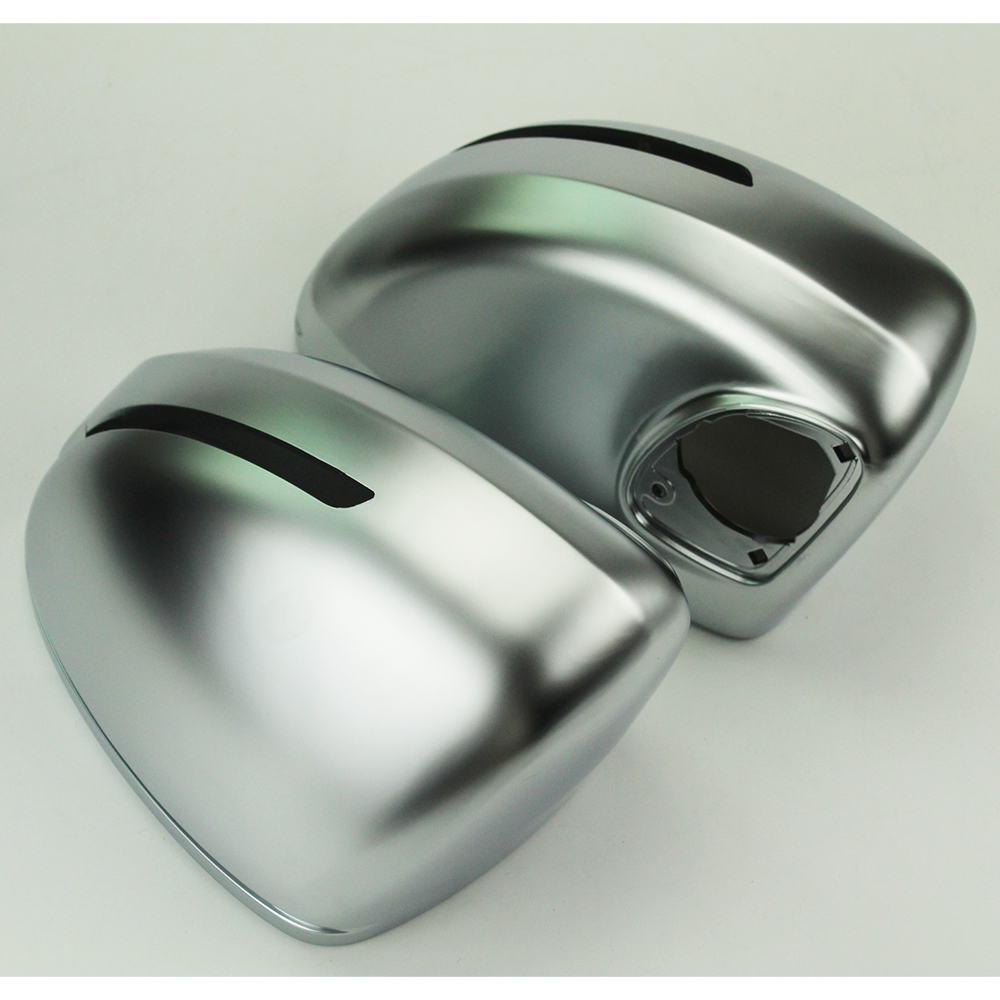 2pcs Side Rearview Mirror Silver Chrome Matt Replacement Cover for Audi TT 2008 2014