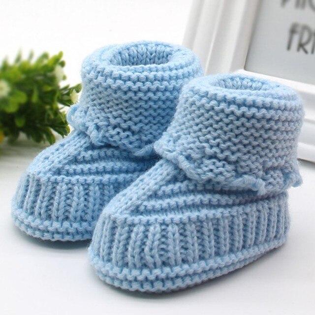 Handmade Newborn Baby Infant Boys Girls Crochet Knit Booties Casual