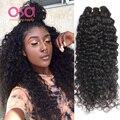OSA Волосы Вьющиеся Малайзийские Виргинские Волосы Глубоко Вьющиеся Глубокая Волна Малайзии волосы 4 Пучки Сделок Мокрый И Волнистые Человека Пучки Волос, Плетение