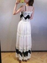 купить!  Платье Дизайн Лето 2019 Кружева Элегантная Женская Мода Принцесса Европа Дизайнер Высокого Качества  �