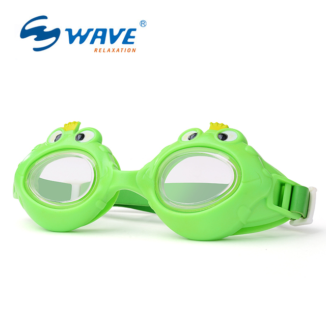 e86323d7d918 WAVE Kid Carton Swimming Goggles Crab shark frog Shape Swim Glasses for  Children Baby Boy and Girl Summer Swim Eyewear G235