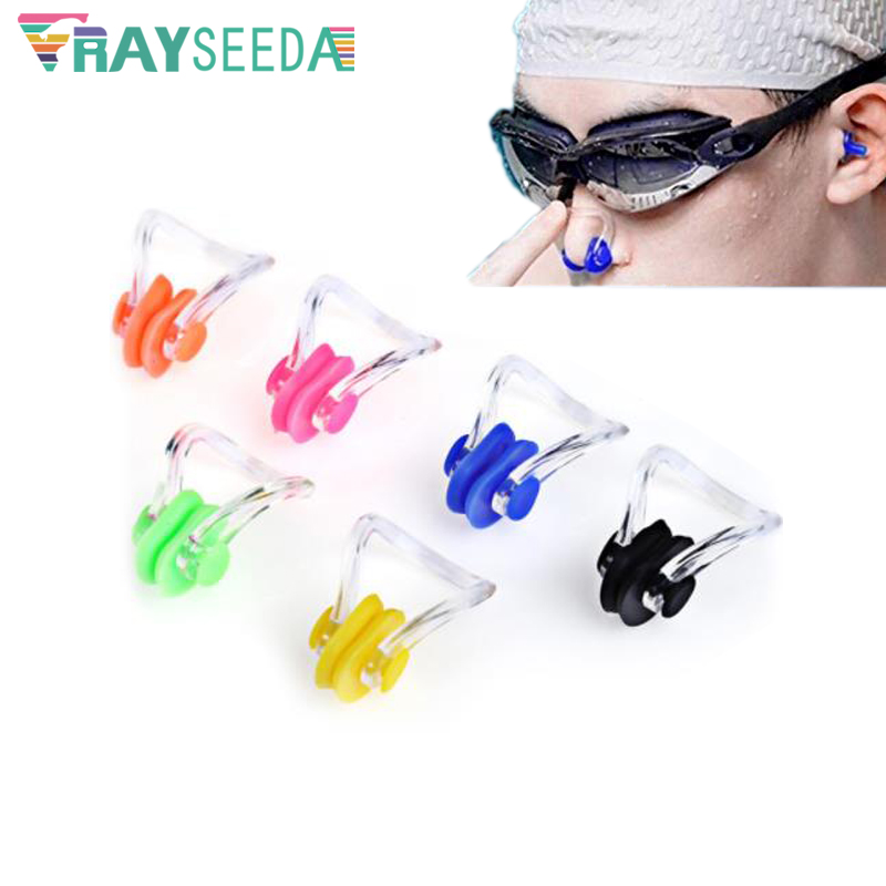 100pcs/ Lot Kids Soft Silicone Swimming Nose Clip Children Adults Learn Swimming Diving Surfing Nose Clips Swim Pool Accessories