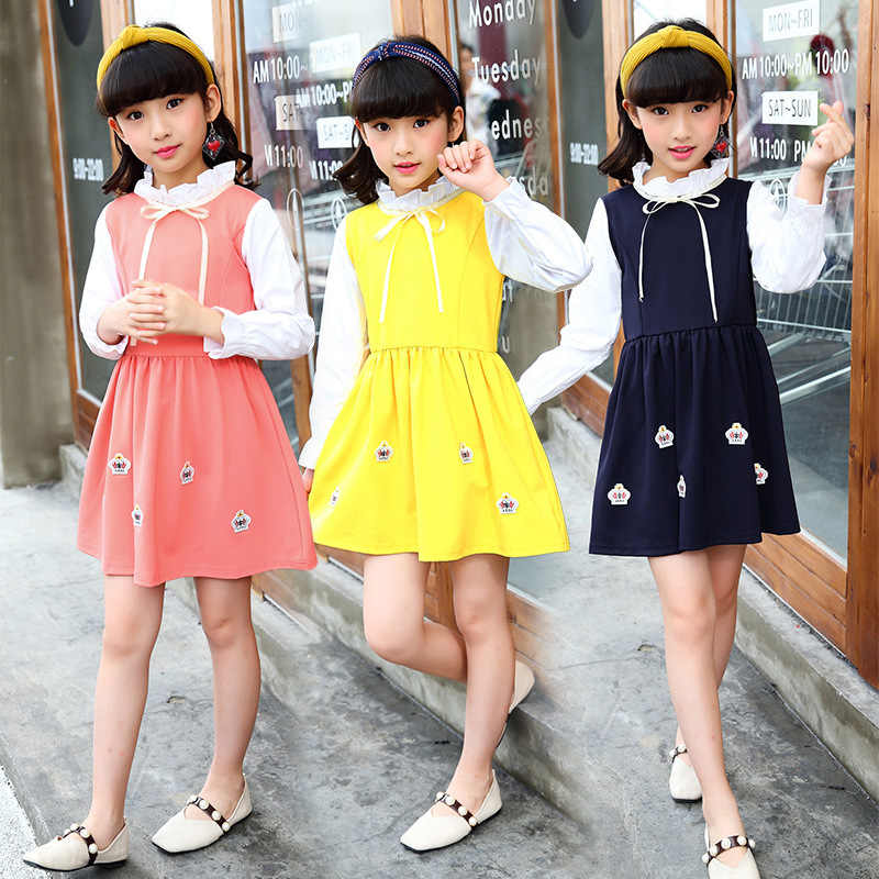 2019 ฤดูใบไม้ผลิสาวใหม่แขนยาวชุดเด็กน่ารักเจ้าหญิงชุดลูกไม้เสื้อผ้าเด็กเด็กเสื้อผ้า Sukienki Robe 10 12