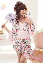купить Halloween Women Lady Japanese Tradition Yukata Kimono Bath Robe Gown Cosplay Costume дешево