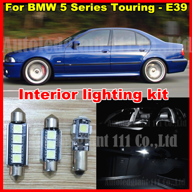 20x bright white car interior led light package for bmw e39 5 series touring led interior. Black Bedroom Furniture Sets. Home Design Ideas