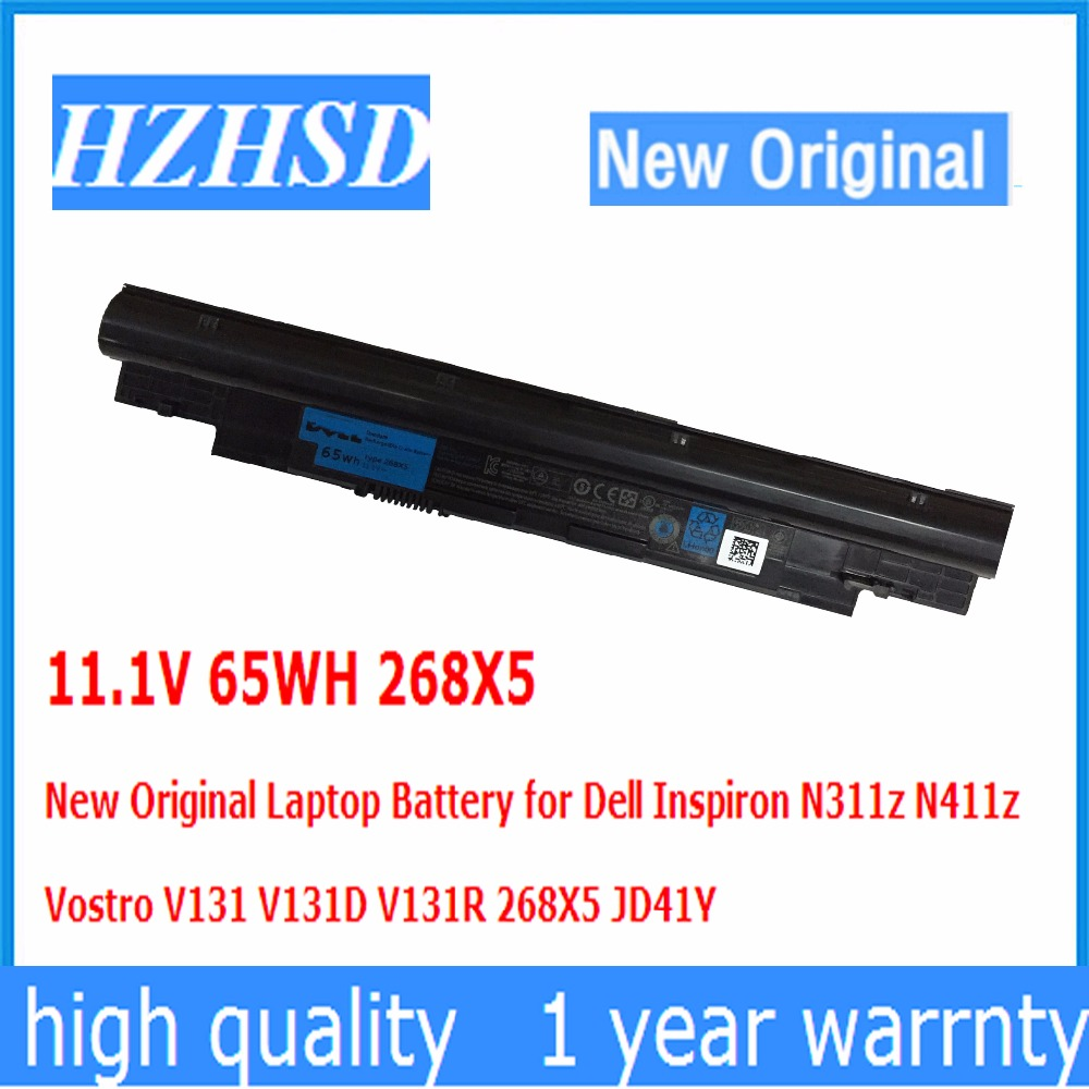 11.1V 65WH 268X5 New Original Laptop Battery for Dell Inspiron N311z N411z Vostro V131 V131D V131R 268X5 JD41Y