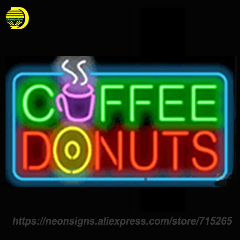neon signs for coffee donuts handcraft hotel decorate room signs custom light signs letrero neon - Donut Shop Coffee