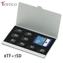 Высокое качество 8 в 1 портативный алюминиевый Micro для TF SD SDHC TF MS чехол для хранения карт памяти защитный держатель аксессуары для sim-карт