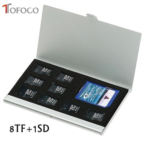 High Quality 8 in 1 Portable Aluminum Micro For TF SD SDHC TF MS Memory Card Storage Case Protector Holder SIM Card Accessories