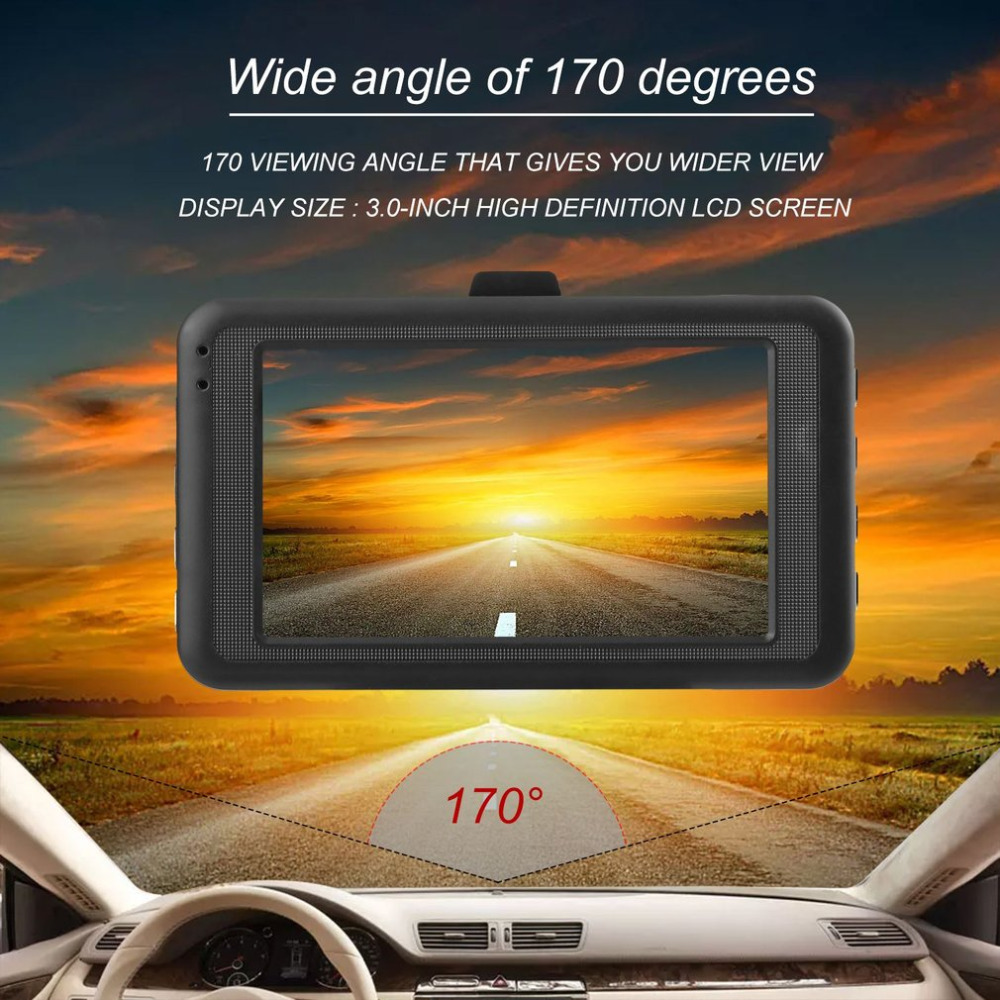 Hot sale 3.0 inch LCD Dash Camera Video Car DVR Recorder Full 1080P HD G-Sensor 32GB Motion Detector Cycle Recording