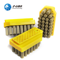 Z LION 3pcs Diamond Abrasive Brush Top Quality Abrasive Antiquing Brushes Reinforced Diamond Grinding For Stone Marble Granite
