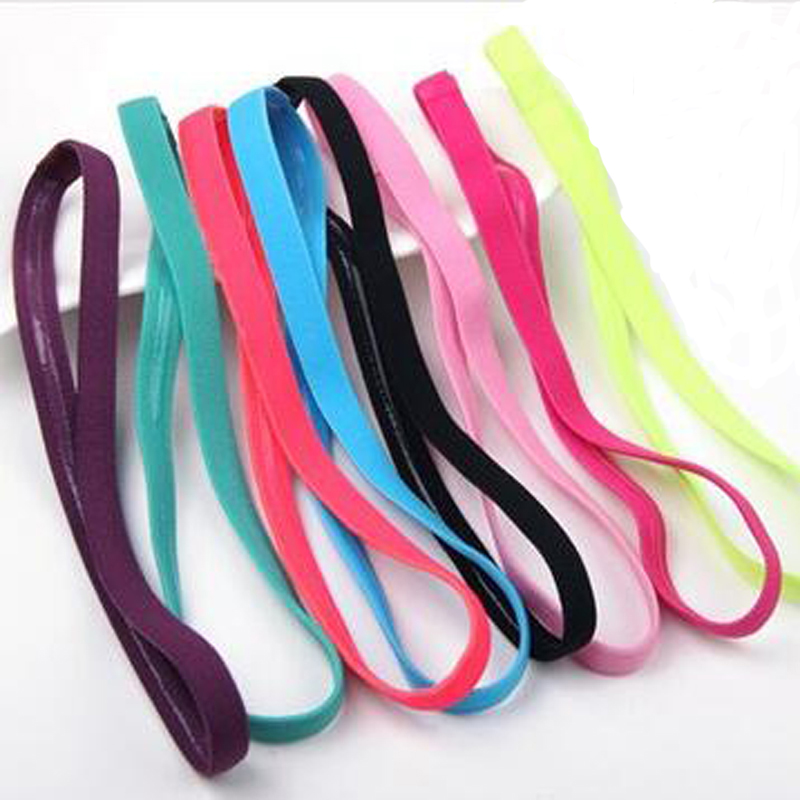 New Fashion Women Men Headband Hairband Yoga Sports Elastic Band Unisex Stretch Girls Hair Accessories Candy Colors