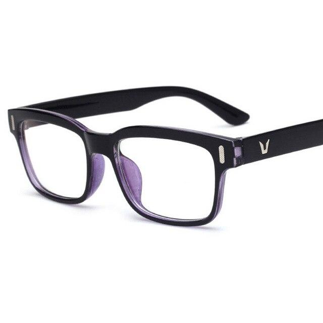 7020027384d 2018 Hot coated lens Optical Plain Mirror Eyeglasses Frames Men Women  Square Full frame Eye Glasses