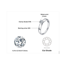 Sterling Silver Solitaire Engagement Rings Jewelry for Women
