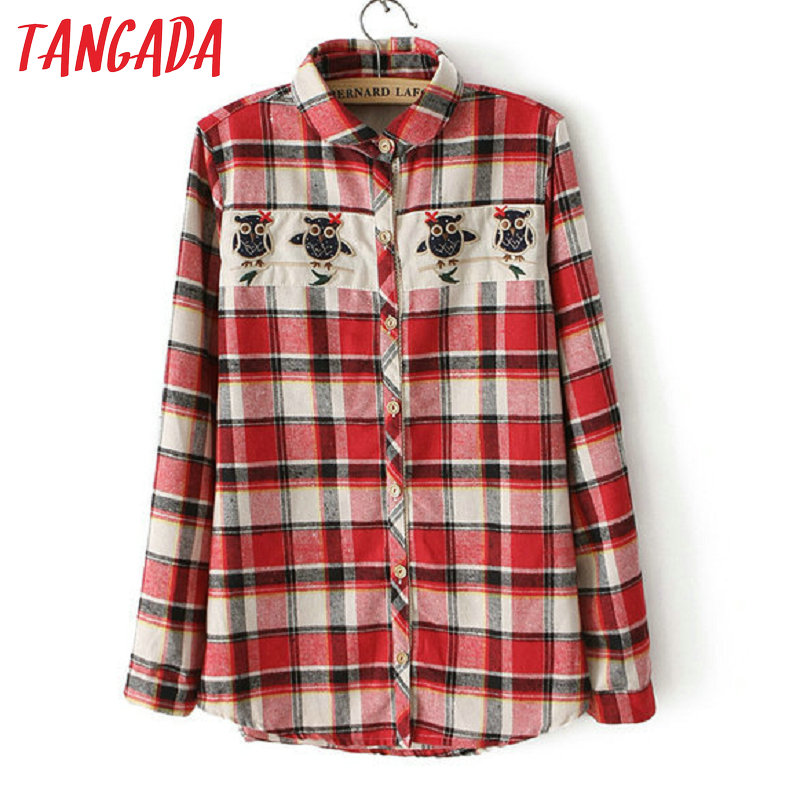 Popular red flannel shirts buy cheap red flannel shirts Womens red plaid shirts blouses