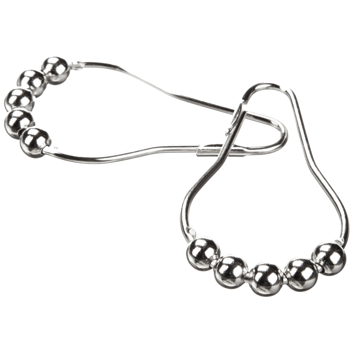 Polished Satin Nickel Ball Shower Curtain Rings 5 Roller Balls Hooks Set Of 36 Heavy Duty In Decorative Accessories From Home Garden