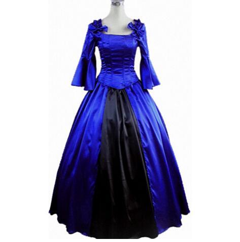 (LE005) robe de princesse bleue pour femme robe Lolita gothique Costumes d'halloween Costume Cosplay robe Lolita gothique personnalisée