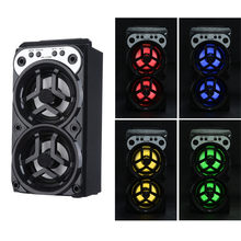 Outdoor Bluetooth Wireless Portable Speaker Subwoofer dengan USB/TF/AUX/FM Radio LED Backlit Musik Pemain #10(China)