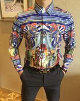 WLD05683BH 2018 горячая Распродажа Для мужчин Модная брендовая стильная рубашка Новый Дизайн Для мужчин рубашки футболки; Бесплатная доставка