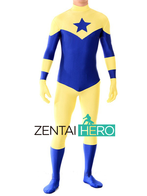ZentaiHero Custom Made Lycra Spandex Booster Gold Bodysuits Superhero Zentai Catsuits for Halloween Cosplay Parties Fancy Dress