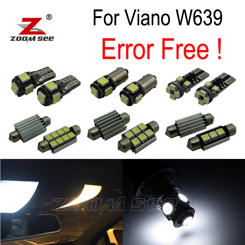 26pcs LED license plate lamp + interior dome map light bulb Kit package For Mercedes For Mercedes-Benz Viano W639 (2011-2015) 27pcs led interior dome lamp full kit parking city bulb for mercedes benz cls w219 c219 cls280 cls300 cls350 cls550 cls55amg