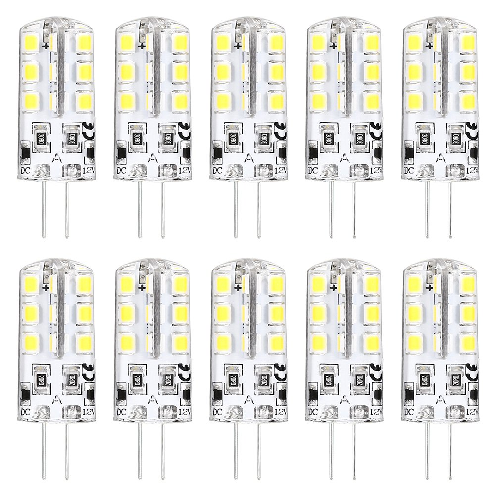 10 X HRSOD High Brightness G4 2.5 W 24 SMD 2835 260 LM Warm White / Cool White T Decorative Corn Bulbs DC 12 V