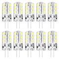 10 X HRSOD высокой яркости G4 2,5 W 24 SMD 2835 260 LM теплый белый/холодный белый T декоративные кукурузные лампы DC 12 V
